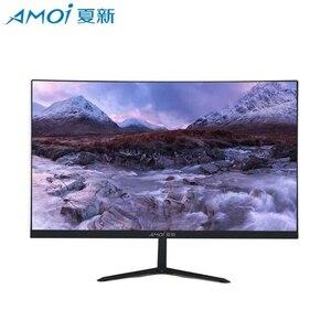 Amoi высококачественный светодиодный 24-дюймовый геймерский монитор для компьютера, 75 Гц изогнутый экран, Плоский ЖК-дисплей, HD игровой VGA/HDMI и...