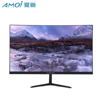 Amoi Good Quality LED 24 Inch Gamer Monitor For Computer 75Hz Curved Screen Flat panel LCD Display HD Gaming VGA/HDMI Interface factory quality ips lcd display 7 85 for supra m847g internal lcd screen monitor panel 1024x768 replacement