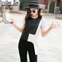 2020 Fashion Real Leather Vest Women Black White Slim Irregular Sheepskin Pullover Tops Genuine Leather Tanks Waistcoats Ladies