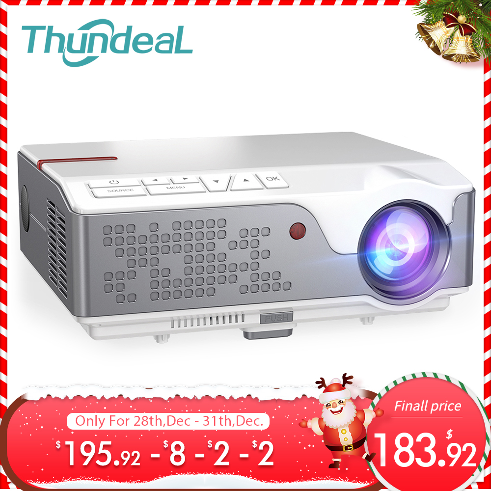 Thundeal TD96 1080P Mini portatil projector full hd com 7000 lumens 3d android video led projetores de home beamer cinema em casa  wifi proyector smartphone para epelhamento celular  sincronização   Oferta-0