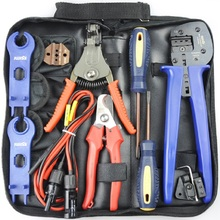 R&X Crimping Tool for 2.5/4/6mm2 Solar Cable MC4 Solar Connector Crimping Tool Kits Crimping/Cutting/Stripping Tools with Cable stud crimping tool for metal profile matrix 87951