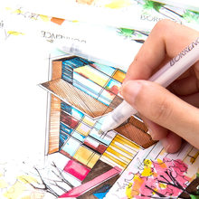 4 Pçs/set Destaque Branco Marcador Caneta Fineliner Caneta Esboço da pena de Desenho Escrita Arte Projeto Pintura Graffiti Manga Papelaria Suprimentos