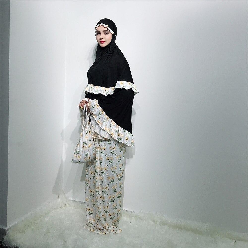 Formal Muslim Prayer Garment Khimar Skirt Set Women Hijab Dress Abaya Jilbab Islamic Clothing Dubai Namaz Musulman Jurken Abayas