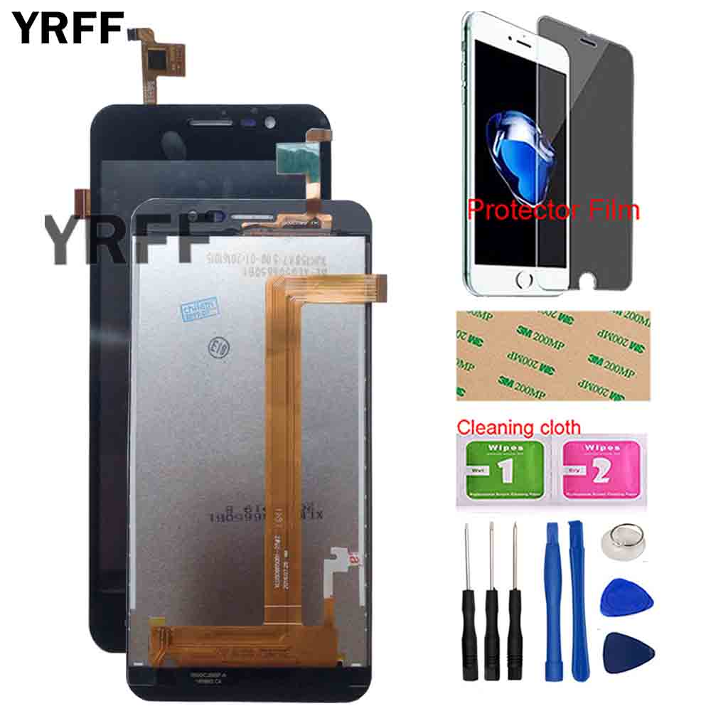 LCD Display Touch Screen For Homtom HT16 Touch Screen Digitizer Panel LCD Display Front Glass TouchScreen Tools Protector Film
