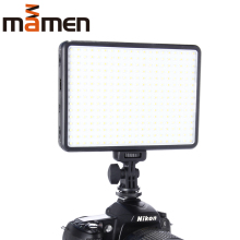 MAMEN 300 DSLR LED Photo Video Light photography Lamp On Camera Studio Youtube Ring Light For Phone Stream Dimmable lighting