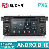 Isudar PX6 2 Din Android 10 Auto Radio For BMW/E46/M3/MG/ZT/Rover 75/320/318/325 Car Multimedia Video DVD Player Navigation DVR