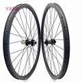 29er mtb дисковые карбоновые колеса 45x25 мм ассиметричные бескамерные колеса для велосипеда FASTace DA206 100x15 142x12 Углеродные колеса bisiklet jant seti