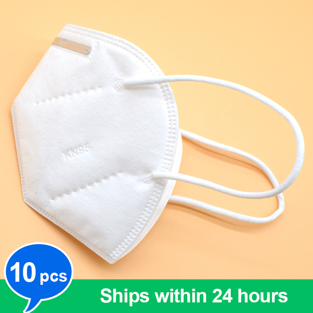 10pcs KN95 mask KN95 protective mask dust mask flu facial template ffp2 Pm2.5 mask 3