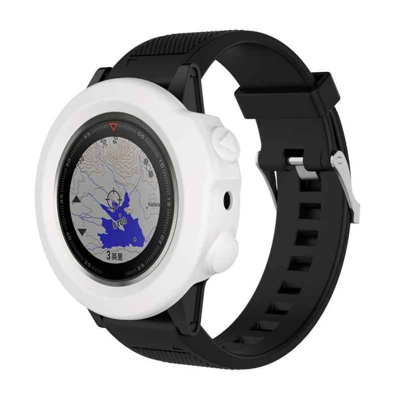 Tapones en blanco funda Universal duradera reloj inteligente pulsera funda protectora con tapón de silicona antipolvo para Garmin fenix5X