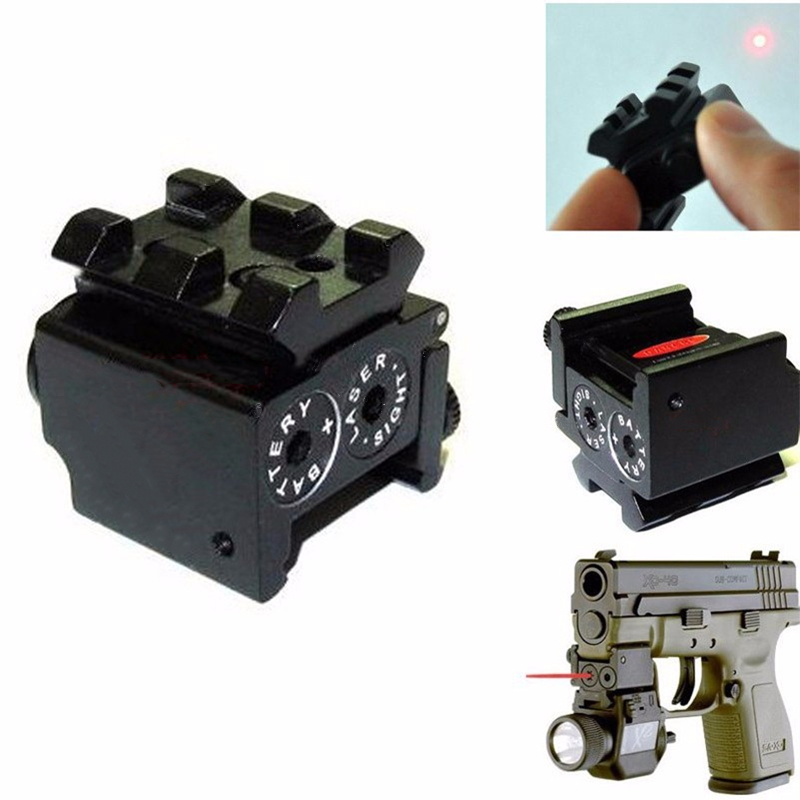 Tactical Red Laser Sight Pointer 300m with 20mm Rail Mount  for Glock 17 19 Pistol Guns Hunting Accessory-2