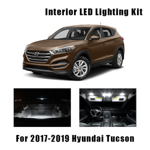 12pcs White Bulbs Car LED Interior Map Dome Light Package Kit Fit For 2017 2018 2019 Hyundai Tucson Trunk Mirror License Lamp(China)