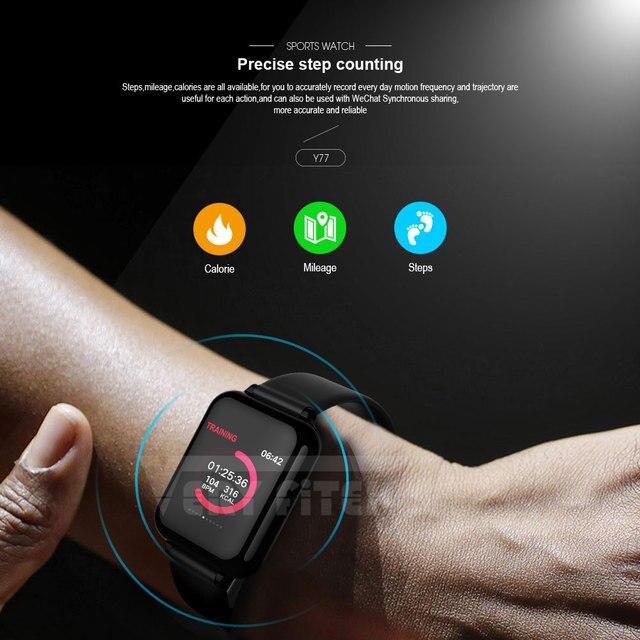 VERYFiTEK B57 montre intelligente pression artérielle oxygène Fitness Bracelet montre moniteur de fréquence cardiaque IP67 hommes femmes Sport Smartwatch B57 6