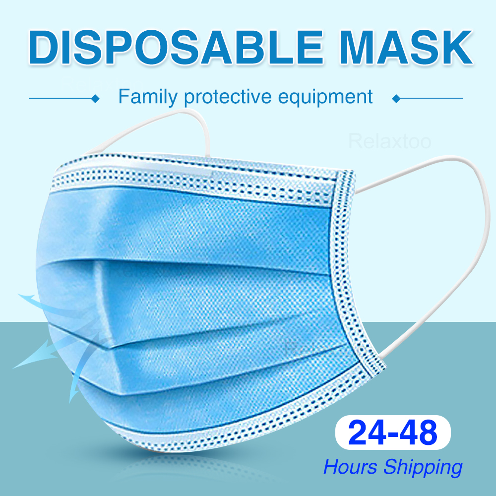 Protective Mask Health Protect 3 Layers Non Woven Disposable Protective Mask Dustproof Earloop Face Mouth Masks Adult In Stock