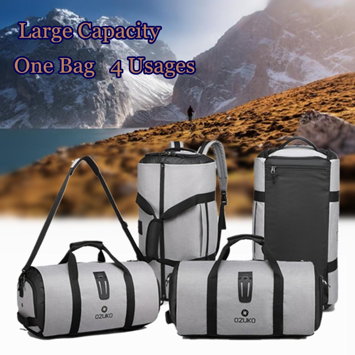 2 In 1 Travel Bag Mens Garment Bags Women Waterproof Travel Shoulder Bag Large Luggage Duffel Totes Carry On Leisure Hand Bag