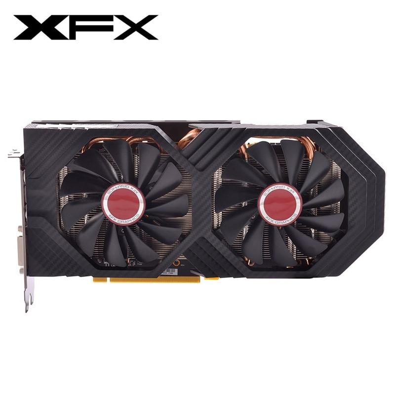 Оригинальные видеокарты XFX RX580 4 Гб AMD Radeon RX 580 4 Гб графический экран карты GPU настольный компьютер PUBG игровая карта Видеокарта