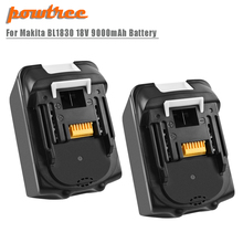 Powtree For Makita High Capacity 9000mAh BL1830 Power Tools Lithium Battery Replacement LXT400 BL1815 BL1840 BL1850 BL1860 L30 цена и фото