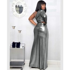 Image 4 - Vestidos africanos para mujer, nuevo superventas, Popular, colorido, bronce, Vestido largo de fiesta con cuello en V, vestido largo para chica más joven