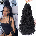 spring sunshine Nu locs Crochet Hair 36 Inches Ombre Faux Locs Color Extension Synthetic Soft Locs Braiding Hair For Women