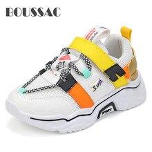 BOUSSAC Kids Mesh Shoes Baby Girls Sport Sneakers Children Casual Boys Breathable sport sapato tenis infantil