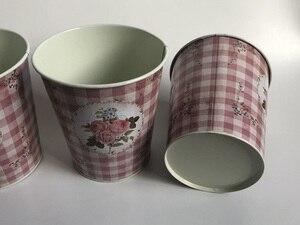 Image 2 - 10 ピース/ロットD12.5xH14cm小さな花瓶ポット金属植木鉢家の装飾の結婚式ポットの写真撮影の小道具
