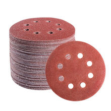 10 pçs 5 Polegada 125mm redonda lixa oito furos folhas de areia disco grit 60-2000 gancho e laço lixar disco polonês para polimento ferramenta