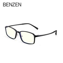 BENZEN komputerowe okulary blokujące niebieskie światło szkło mężczyźni czytanie gogle okulary ochronne okulary okulary gry dla kobiet tanie tanio Cr-39 Unisex 5176 54MM 39MM Plastikowe tytanu