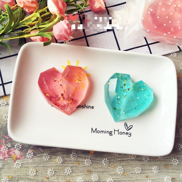 10pcs/set Wedding Party Babyshower Gift Handmade 3D Shape Heart-shaped Soap Gift Box Dropshipping Wholesale