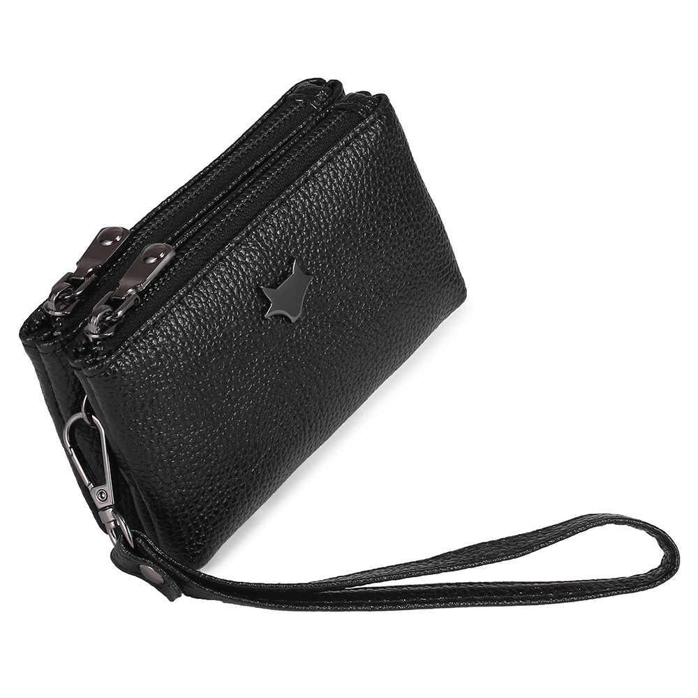 Femmes poignet porte-monnaie en cuir PU femme Double fermeture éclair organisateur de voyage Mini pochette femmes sac de rangement Portable petits portefeuilles nouveau