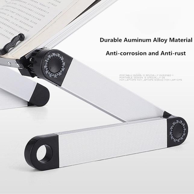 Creative Aluminium Alloy Metal 360 Degree Adjustable Book Reading Shelf Stand Books Reading Bookshelf Laptop Holder Stationery 5