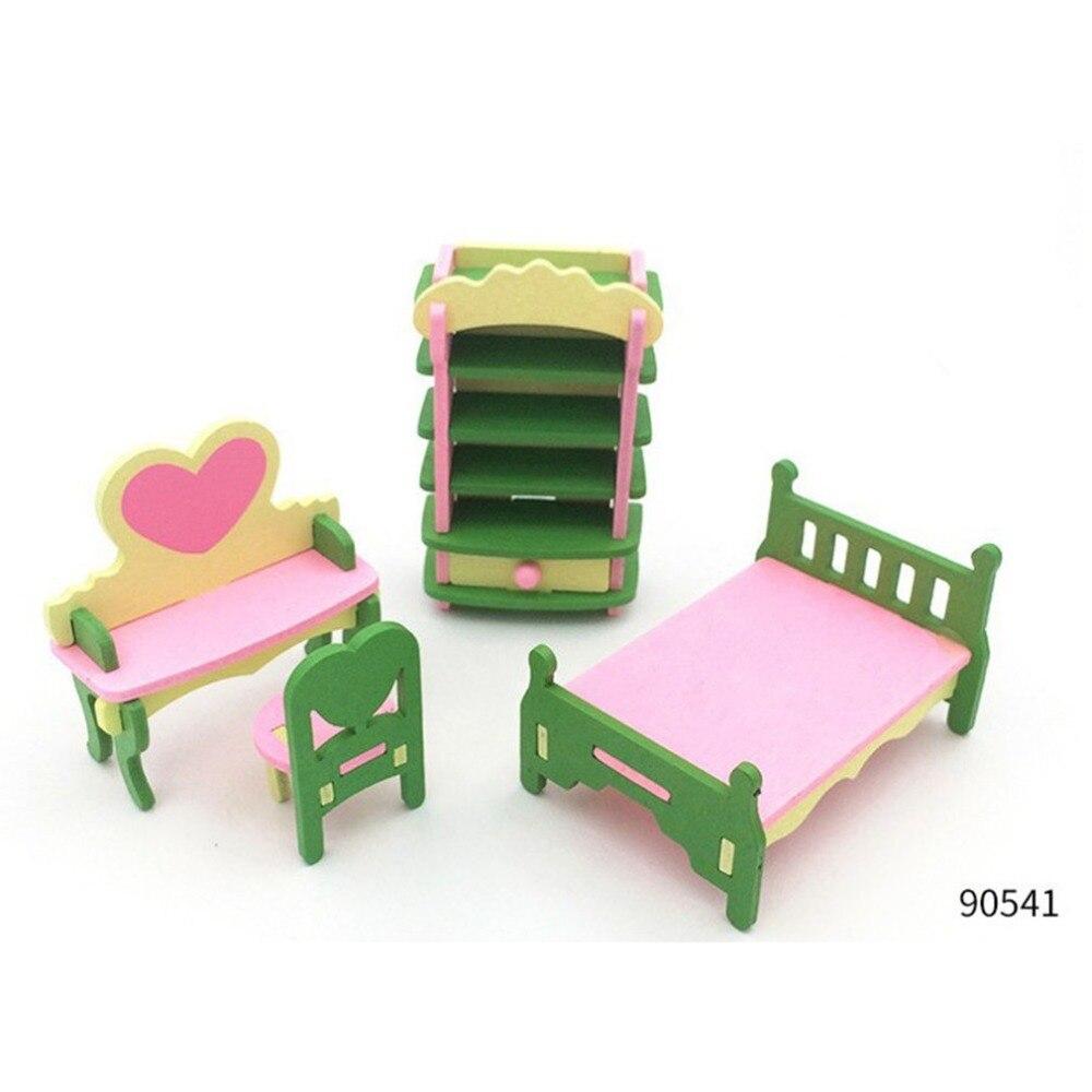 Детский ролевой Игровой домик, набор деревянных игрушек для кухни, детской комнаты, гостиной, мини-украшения, набор игрушек, подарок на день