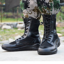 Size 38-45 Combat Boots Casual High Top Platform Shoes Fashion Breathable Summer Military Boots Men Tactical Boots Army Swat(China)