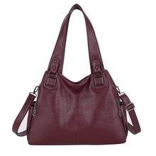 سعة كبيرة حقيبة يد الإناث حقائب اليد عارضة هوبوس حقائب كتف المرأة لينة خمر حقائب هوبو جلدية سيدة Crossbody حقيبة ساعي