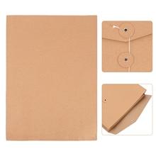 10pcs A4 Kraft Paper Envelope File Bag File Folder Portfolio Project File Bags