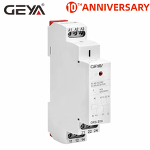 GEYA GR8 AC230V DC24V Intermediate Relay Auxiliary Relay 8A 16A SPDT Electronic Relay Switch wcj1 a 16a 220v electronic protection relay black yellow