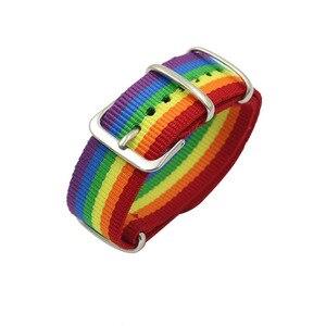 Nepal Rainbow Lesbians Gays Bisexuals Transgender Bracelets for Women Girls Pride Woven Braided Men Couple Friendship Jewelry(China)