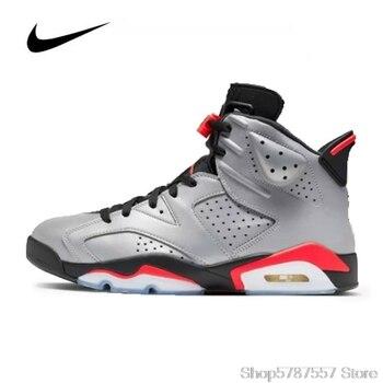 Nike Air Jordan 6 Retro Yansımaları Erkek Basket Topu Ayakkabı Sneakers Orijinal Yüksek Top Basketbol Kadın Ayakkabı CI4072-001