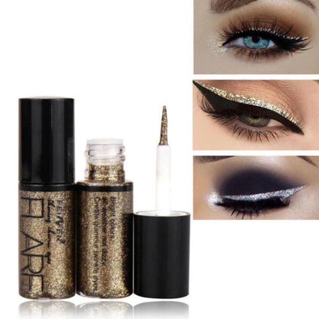 10 pièces/ensemble or blanc paillettes fard à paupières étanche liquide Eyeliner longue durée imperméable à leau longue maquillages outil cosmétique
