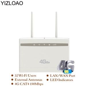 YIZLOAO 4G Router/CPE Wifi Repeater/Modem Broadband With SIM Solt Wi fi Router Gateway PK Huawei B525 Xiaomi/mi ZTE Router(China)