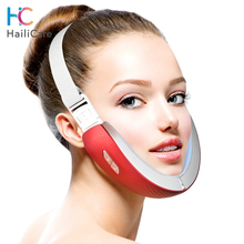 Face V Shaper Facial Slimming Lift Belt Machine Red Blue LED Photon Therapy Facial Lifting Device Reduce Double Chin Massager