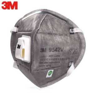 Original 3M 9542V Grey Safety Dust Mask with Cool Flow Valve Breathable Mask