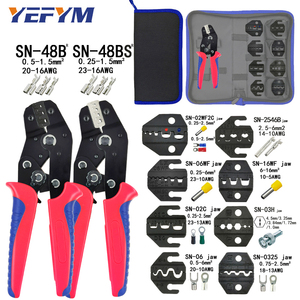 Crimping Pliers Set SN-48BS 8 jaw Kit for 2.8 4.8 6.3 VH2.54 3.96 2510/Tube/Insulation Terminals Electrical Clamp Min Tools(China)