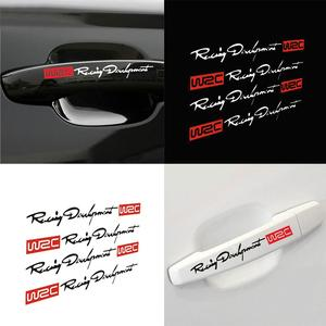 4/sets Newest WRC Car Styling Door Handle Stickers for Mazda 2 Mazda 3 Mazda 5 Mazda 6 CX5 CX-5 CX7 CX9 Atenza Axela FOR Hyundai(China)