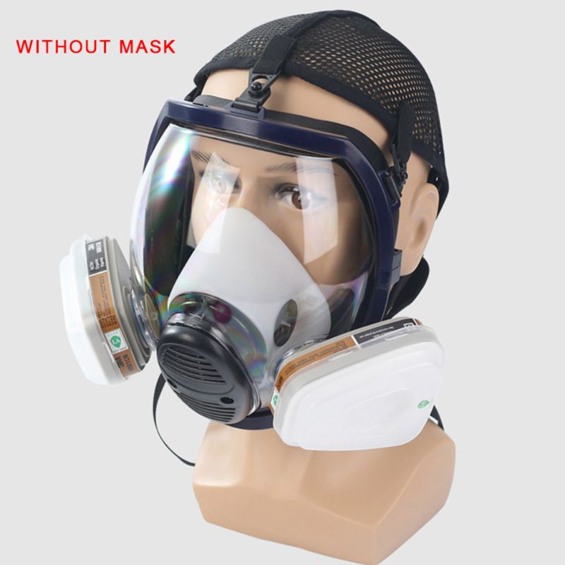 6800 Full Facepiece Gas Mask Accessories Spray Painting Protection Large Respirator Mask Filter Box And Sponge