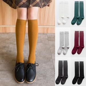 Image 4 - Harajuku Retro Women Cotton Autumn Winter Long Socks Casual Thick Warm Japanese Lady Gift White Black Yellow Grey Red School INS