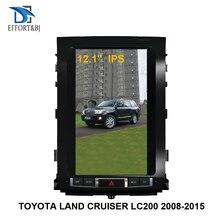 אנכי מסך טסלה אנדרואיד 9.0 רכב ניווט GPS עבור טויוטה לנד קרוזר LC200 2008 2015 גבוהה רמת רכב מולטימדיה נגן