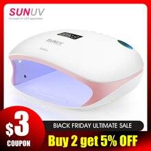 SUNUV SUN4S лампа для ногтей 48 Вт УФ-светодиодный Сушилка для ногтей для отверждения гелей-лаков с умным сенсором оборудование для маникюра, маникюра, салонов, абсолютно новое