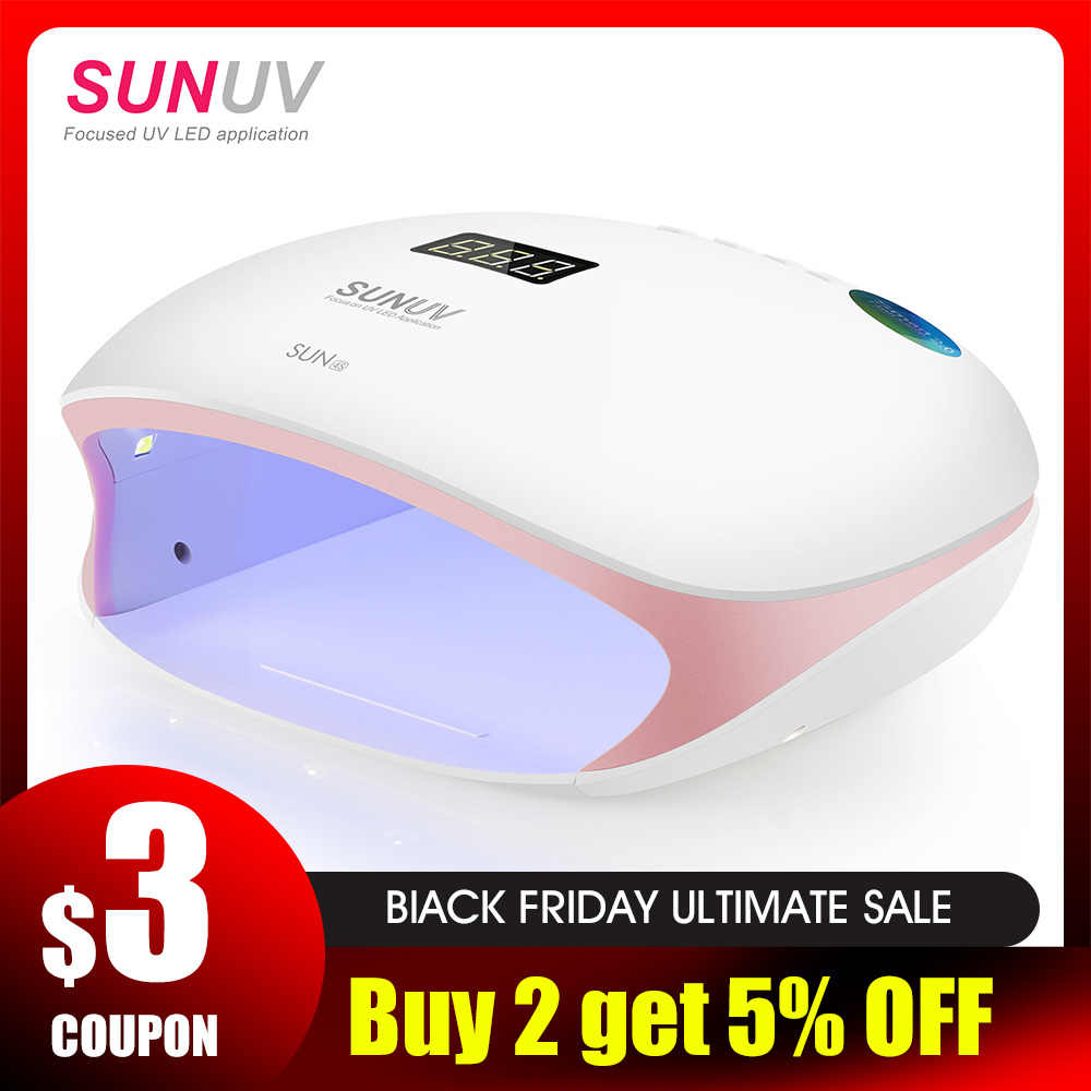 Sunuv Sun4s Nail Lamp 48w Uv Led Nail Dryer For Curing Gels