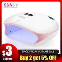 SUNUV SUN4S lámpara de uñas 48W UV LED secador de uñas para curado de geles esmalte con Sensor inteligente de manicura equipo de Salón de Arte de uñas nuevo
