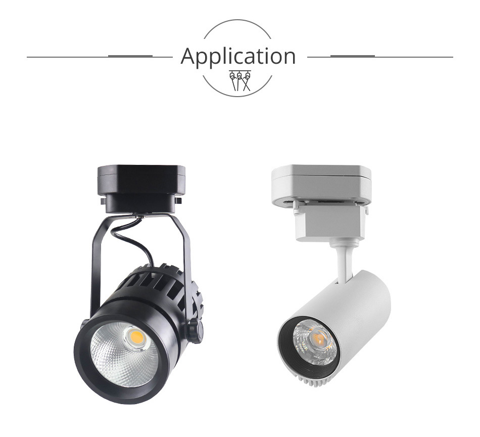 New Track Lights Box Rail Lighting Connector Accessories Track lamp Ceiling Box  2 Wire 3 Wire Fixtures LED Spot light Fitting (8)