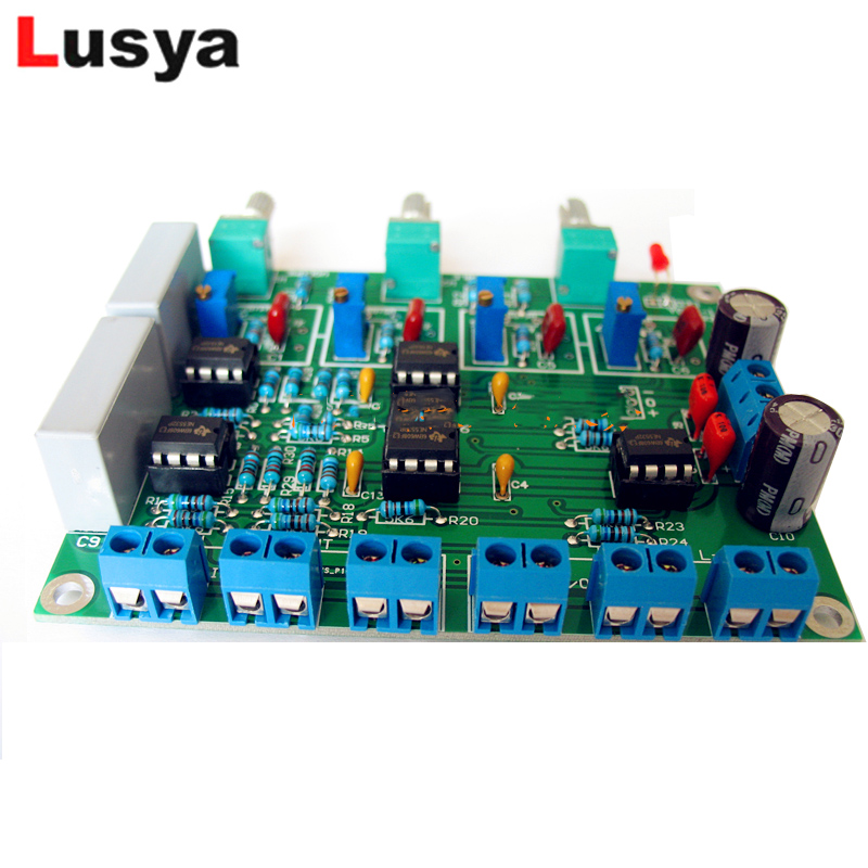 Linkwitz-Riley Front-end Electronic Crossover Board Two -way Divider 72hz-7230hz Adjustable Crossover-point T1214